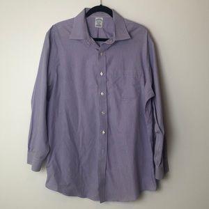 Brooks Brothers l Regent Purple White Shirt 17-33